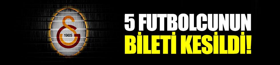 Galatasaray, 5 futbolcunun biletini kesti!