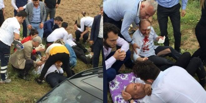İYİ Partililer kaza yaptı