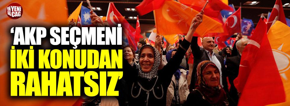 """""""AKP seçmeni iki konudan rahatsız"""""""