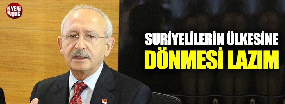 """""""Suriyelilerin ülkesine dönmesi lazım"""""""