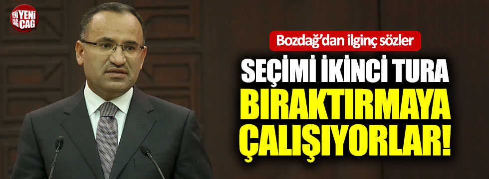 Bozdağ'dan CHP'nin seçim vaadine sert tepki