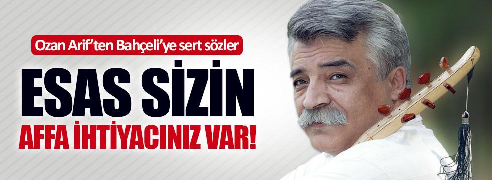 Ozan Arif'ten Bahçeli'ye sert sözler