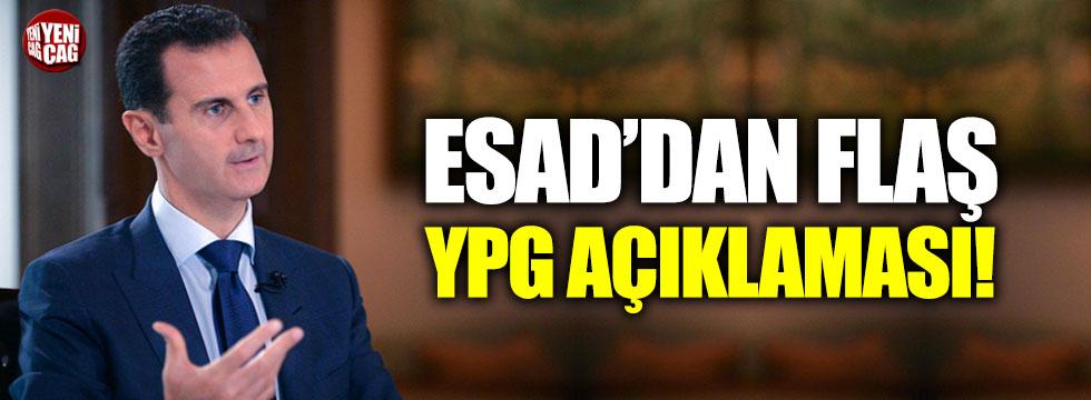 Esad'dan flaş YPG açıklaması