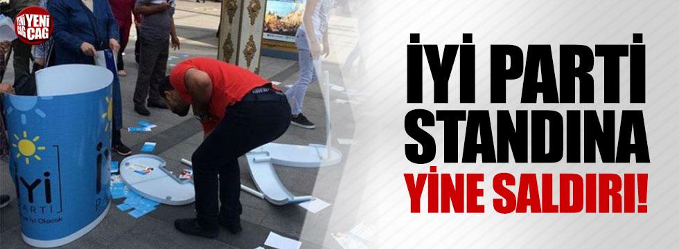 İYİ Parti standına yine saldırı!