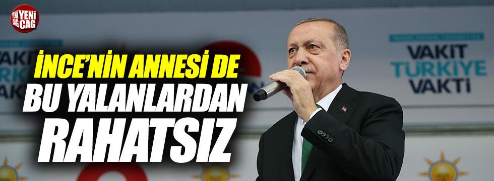 """Erdoğan: """"İnce'nin annesi de bu yalandan rahatsız"""""""