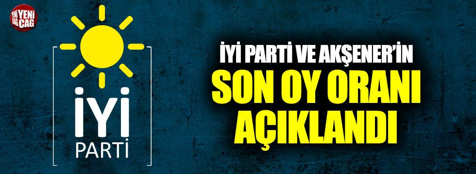 İYİ Parti ve Akşener'in son oy oranı açıklandı