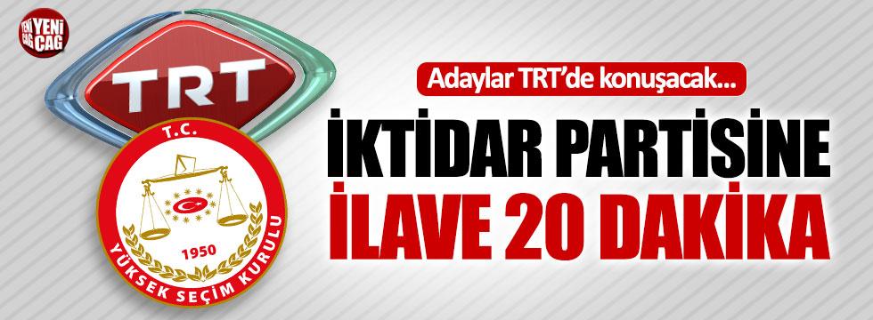Cumhurbaşkanı adayları TRT'de konuşacak