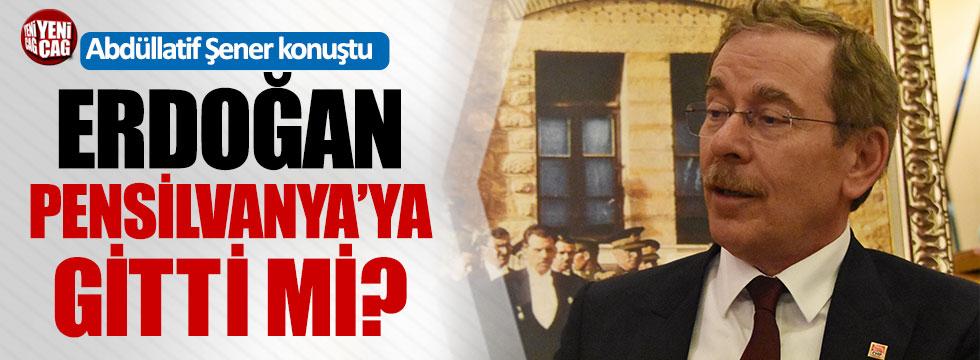 """Abdüllatif Şener: """"Erdoğan ABD'de kimlerle görüştü bilmiyorum"""""""