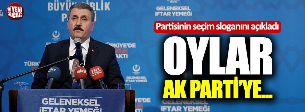 Destici seçim sloganını açıkladı