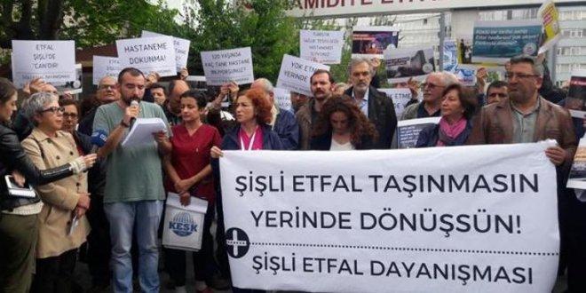 Şişli Etfal'in taşınma kararına protesto