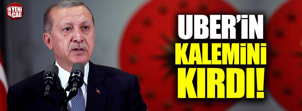 """Erdoğan: """"Uber muber diye bir şey çık, o iş artık bitti"""""""