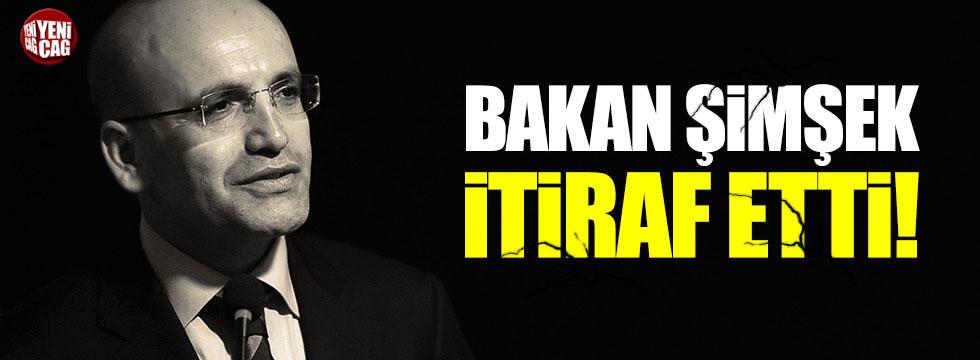 Mehmet Şimşek'ten enflasyon itirafı