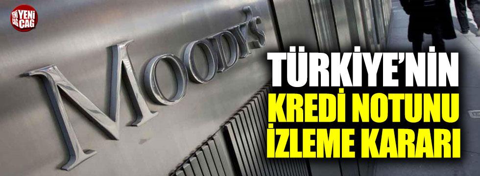 Moody's'ten Türkiye'nin kredi notunu izleme kararı