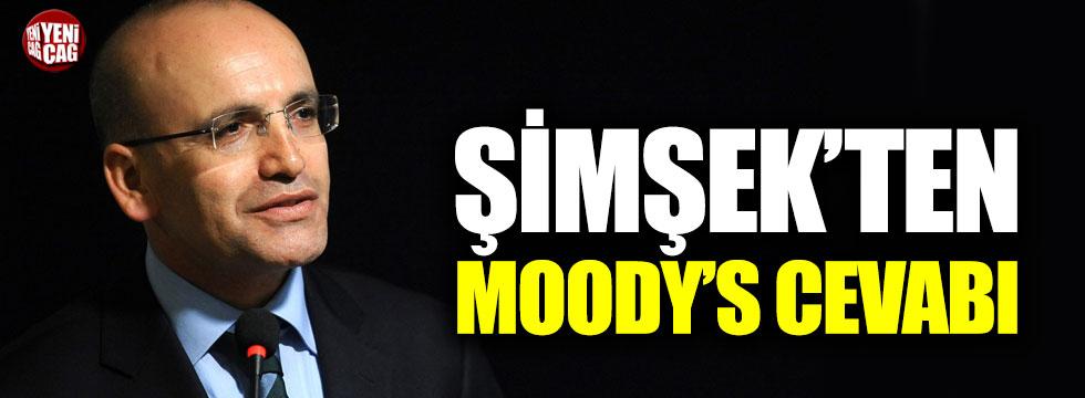 Mehmet Şimşek'ten Moody's cevabı