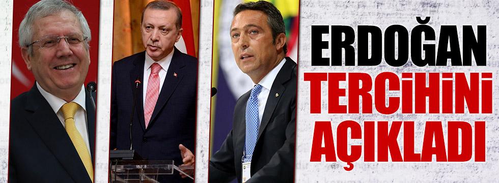 Erdoğan Fenerbahçe'deki seçimle ilgili tercihini belli etti
