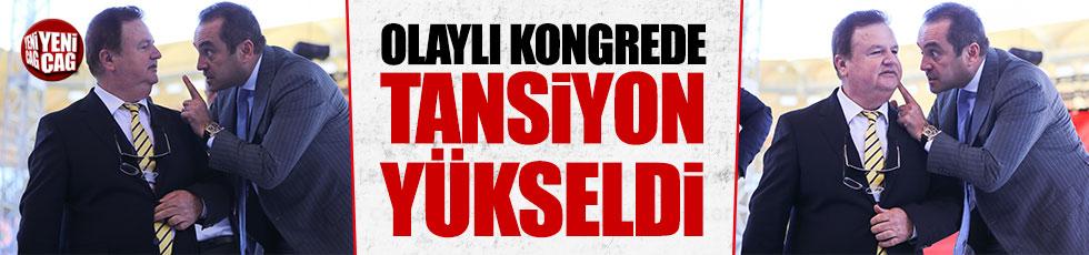 Fenerbahçe kongresinde tansiyon yükseldi