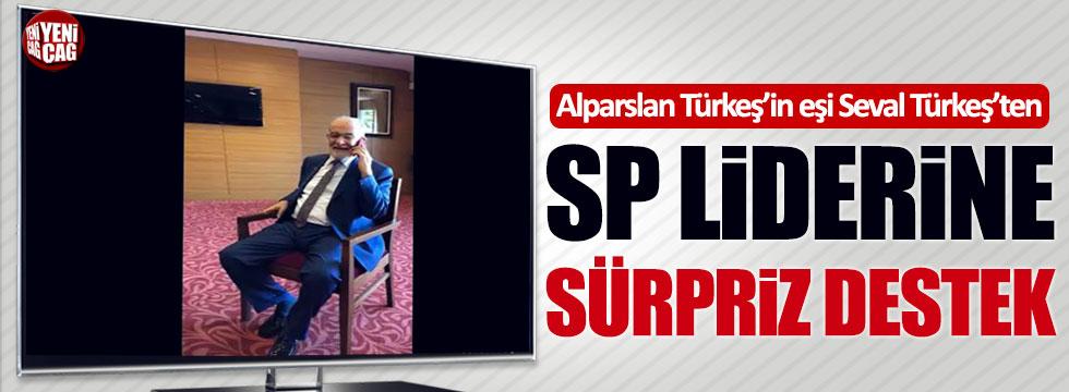Alparslan Türkeş'in eşi Seval Türkeş'ten Karamollaoğlu'na destek