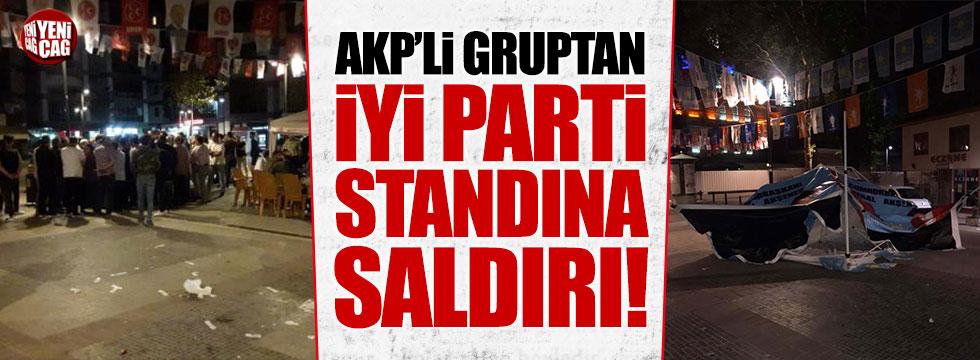 AKP'li grup İYİ Parti standına saldırdı