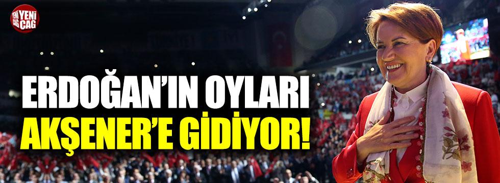 Erdoğan'ın oyları Akşener'e gidiyor