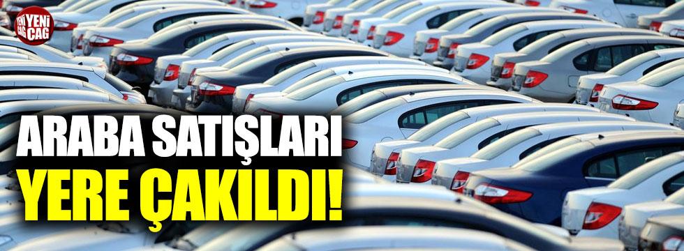 Otomobil satışları yere çakıldı!