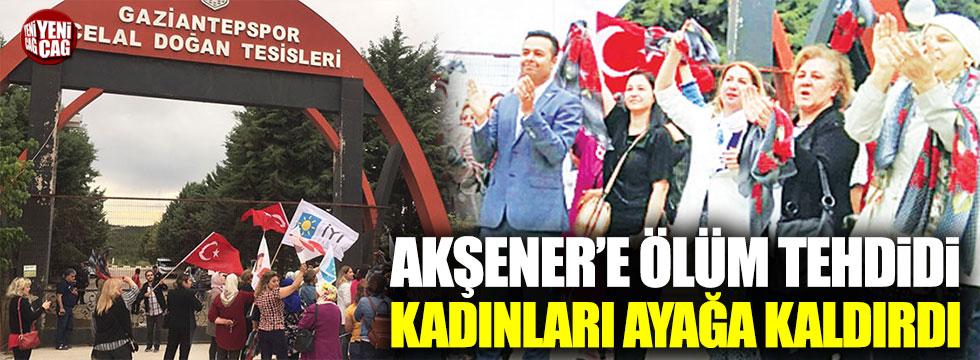İYİ Partili kadınlardan tülbentli protesto