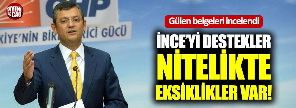 Gülen belgelerini inceleyen CHP'den ilk açıklama