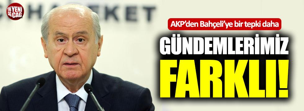 AKP'den Bahçeli'ye bir tepki daha