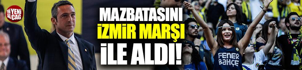 Ali Koç mazbatasını İzmir Marşı ile aldı