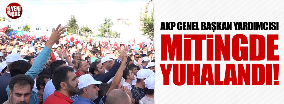 AKP Genel Başkan Yardımcısı mitingde yuhalandı