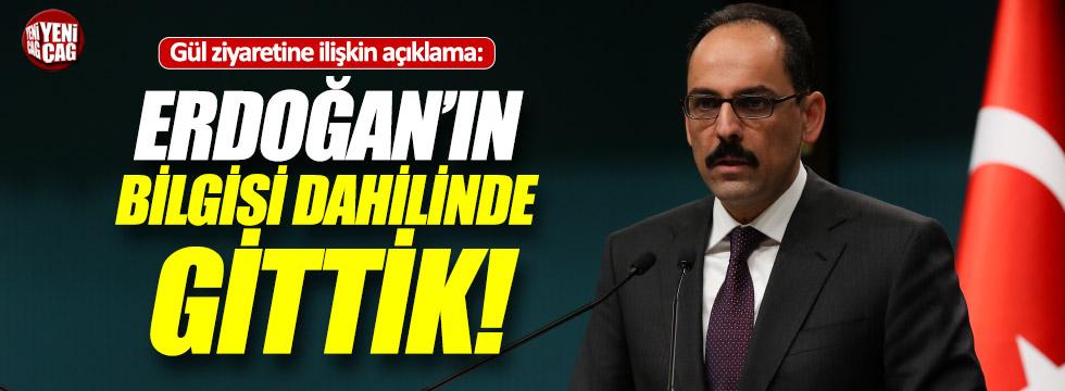 Kalın'dan Abdullah Gül'e ziyaret açıklaması