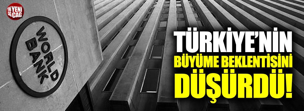 Dünya Bankası Türkiye'nin büyüme beklentisini düşürdü