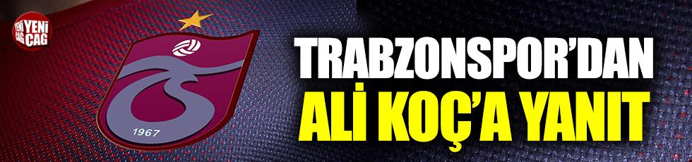 Trabzonspor'dan Ali Koç'a Yanıt