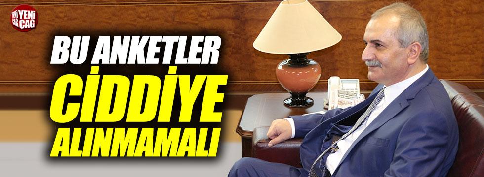 """Ahmet Çelik: """"Önemli olan en son anket"""""""