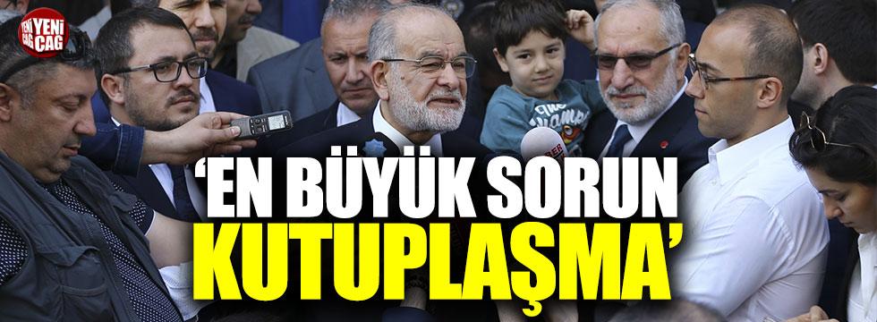 """Karamollaoğlu, """"En büyük sorun kutuplaşma"""""""