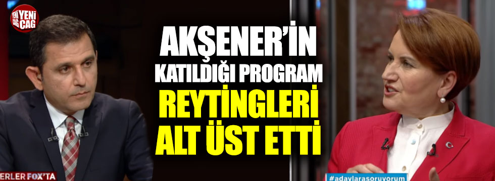 Akşener'in katıldığı program reytingleri alt üst etti