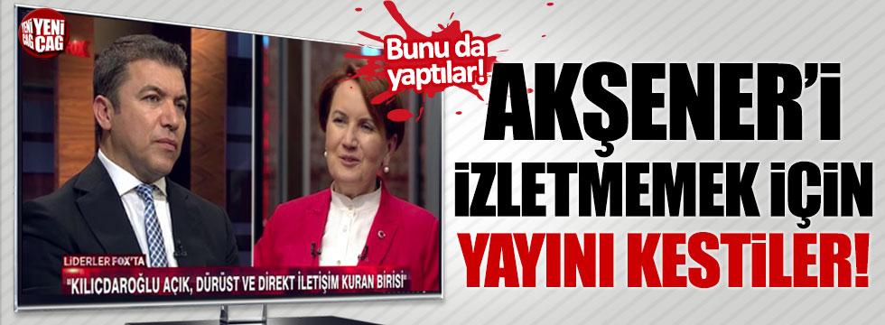 Meral Akşener'i izletmemek için yayını kestiler!