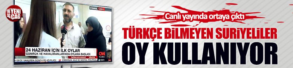 Türkçe bilmeyen Suriyeliler oy kullanıyor