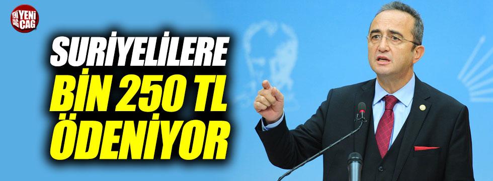 """Tezcan: """"Suriyelilere bin 250 TL ödeniyor"""""""