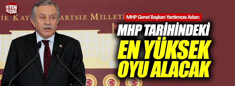 """Adan: """"MHP tarihindeki en yüksek oyu alacak"""""""