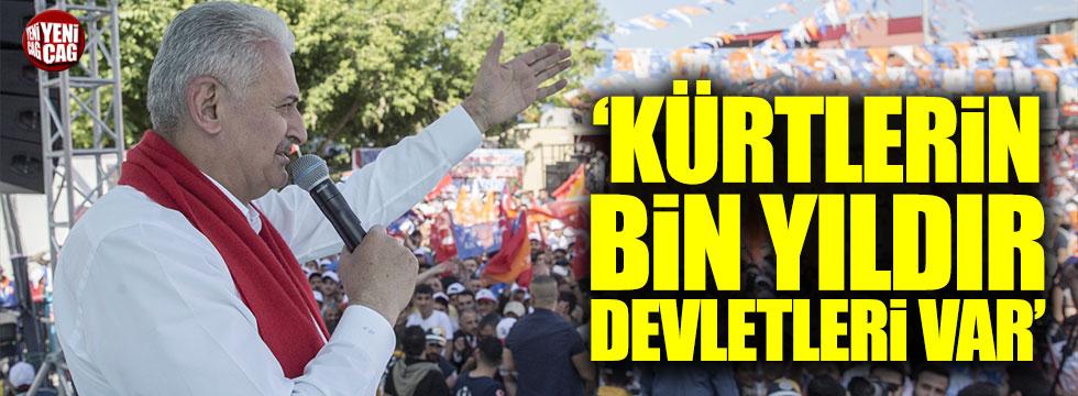 """Binali Yıldırım: """"Kürtlerin bin yıldır devletleri var"""""""