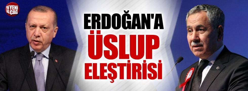 Arınç'tan Erdoğan'a üslup tepkisi