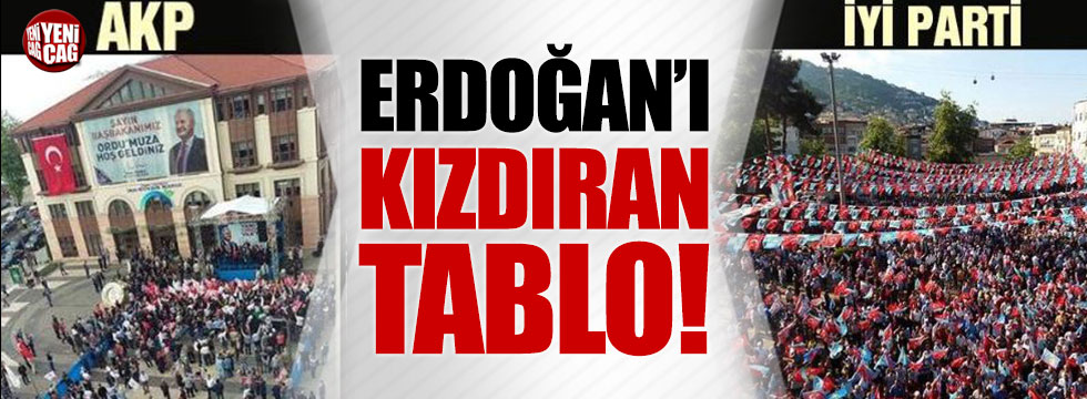 Erdoğan'ı kızdıran tablo!