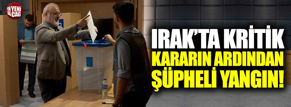 Irak'ta oy deposunda yangın