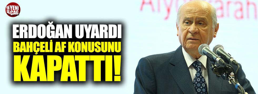 """Bahçeli'nin İzmir konuşmasında """"af"""" detayı"""