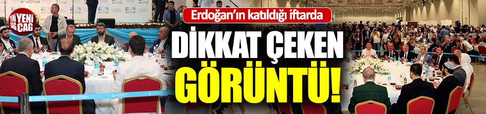 Erdoğan ve vatandaşın arasında dikkat çeken şerit