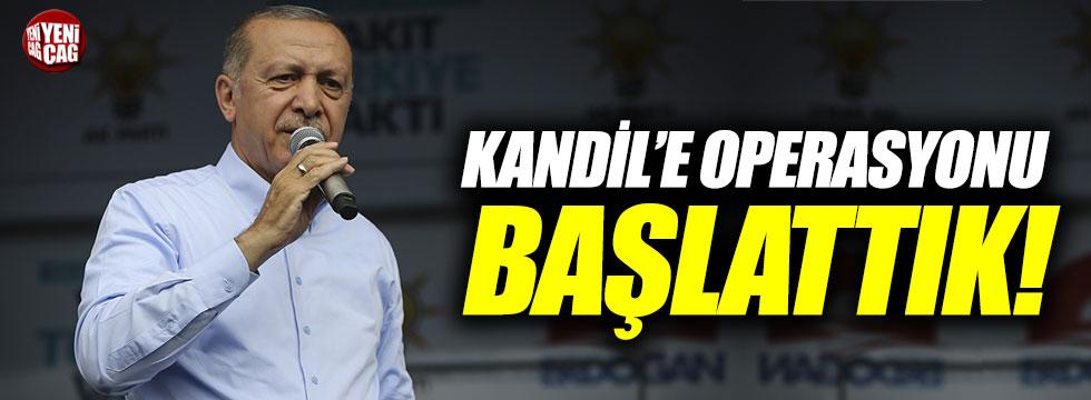 """Erdoğan: """"Kandile operasyonu başlattık"""""""