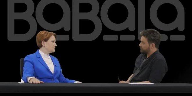 Akşener, Babala TV'de Oğuzhan Uğur'un sorularını cevapladı