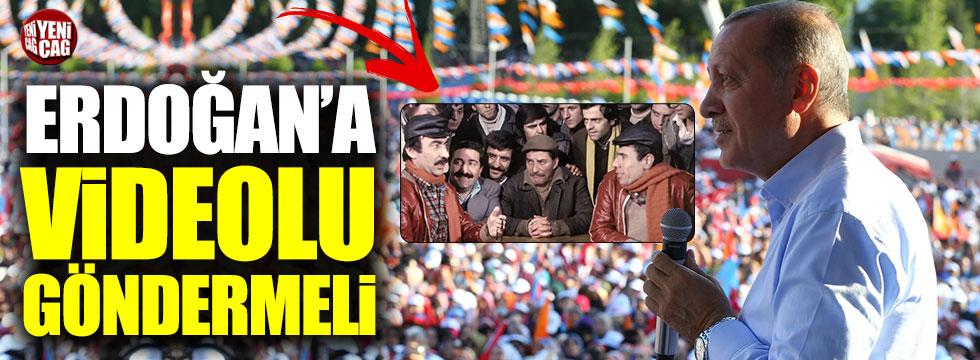 CHP'den Erdoğan'a 'Çiçek Abbas' göndermeli video