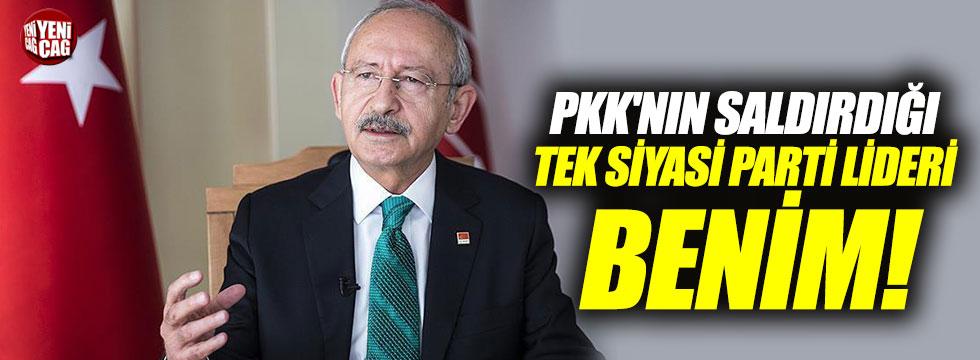 """""""PKK'nın Türkiye'de saldırdığı tek siyasi parti lideri benim"""""""