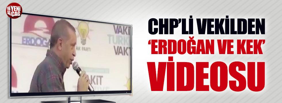 CHP'li vekilden 'Erdoğan ve Kek' videosu